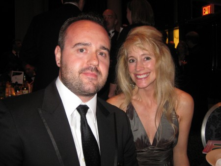 Zemoga's Dan Licht and Palio's Lori Goodale at the 2010 Manny Awards